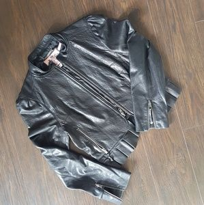 *SOLDJuicy Couture Pleated Leather Jacket LIKE NEW